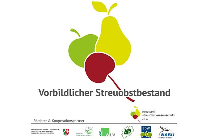 """Auszeichnung """"Vorbildlichen Streuobstbestand"""" vom  Projekt Netzwerk Streuobstwiesenschutz.NRW"""
